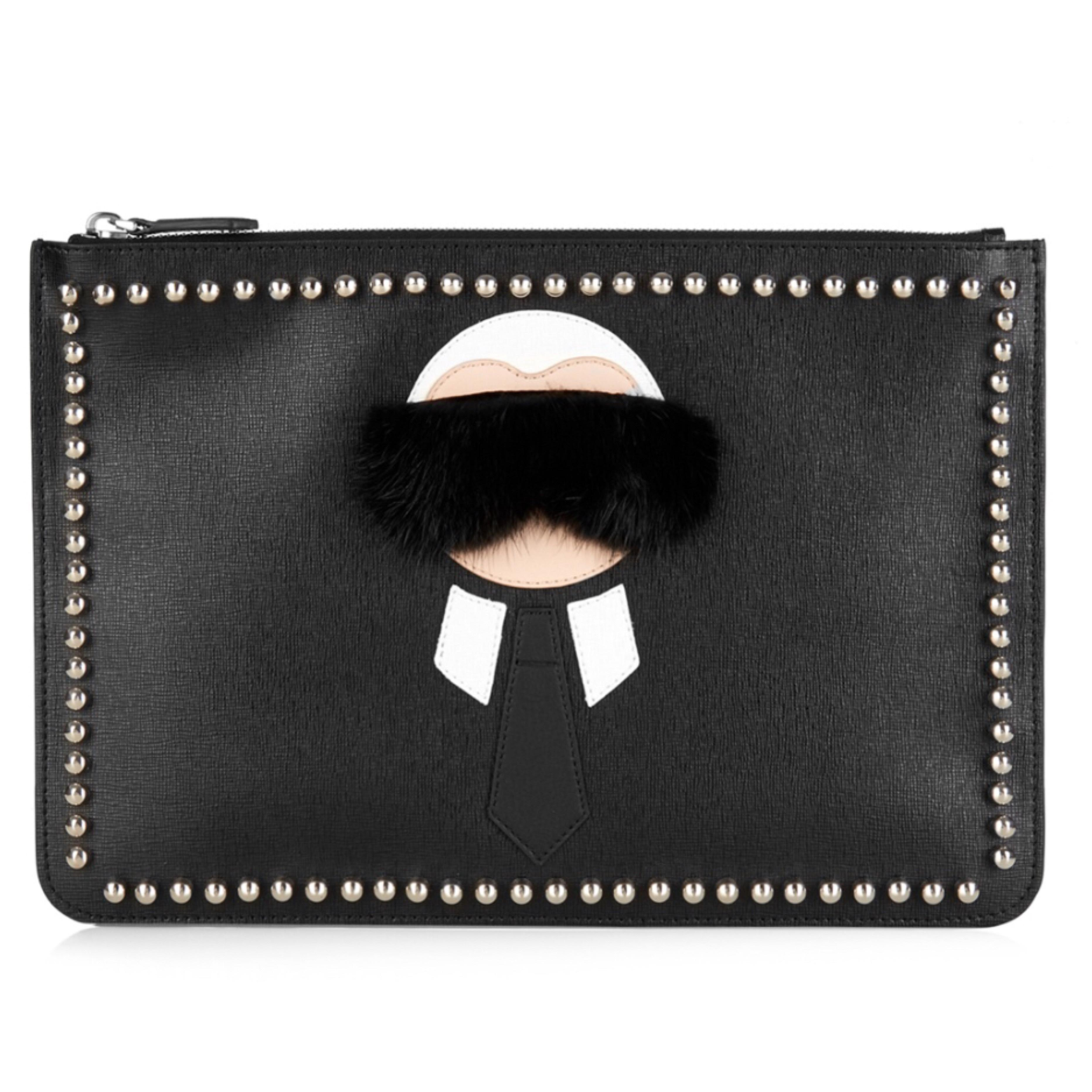 Visit New Online Cheap Sale Clearance Gray leather clutch bag Fendi Cheap Many Kinds Of Sale 100% Guaranteed qPVHRhI