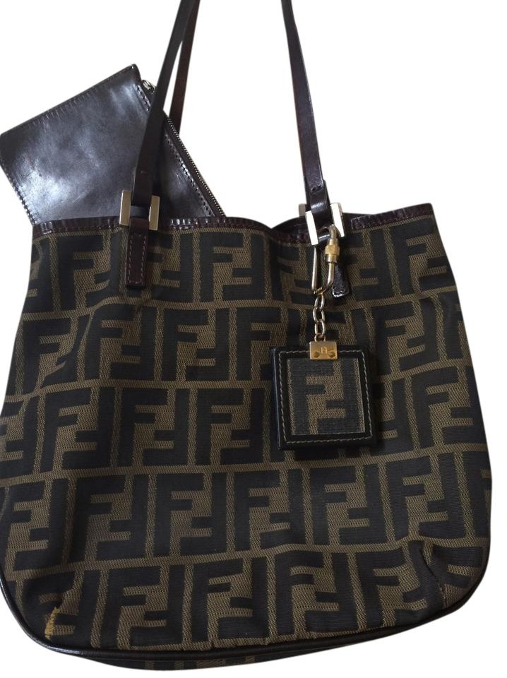9740ea9e5afc ... where to buy fendi purse tote in black brown 114d9 4f198 ...