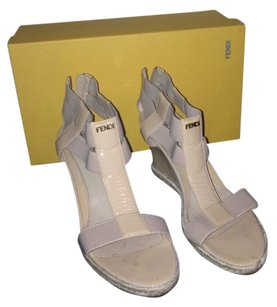 Fendi Nude Wedges