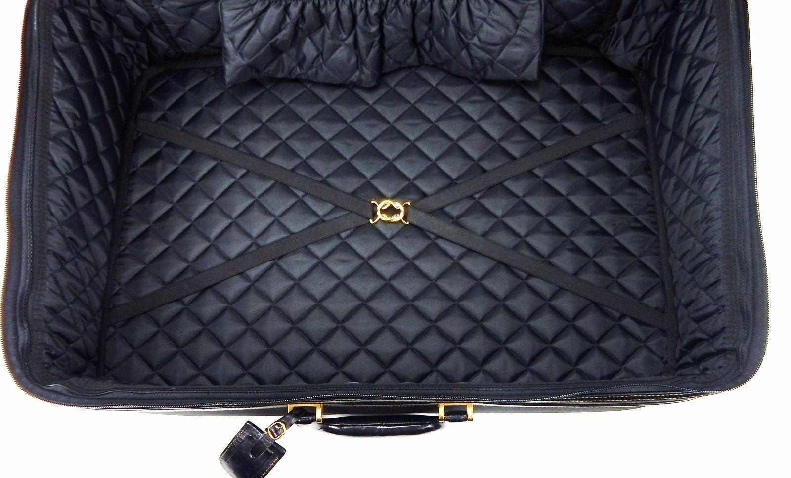 d7c14a739ca3 ... coupon fendi rare full size rolling suitcase luggage w lock id tag  black canvas weekend travel ...