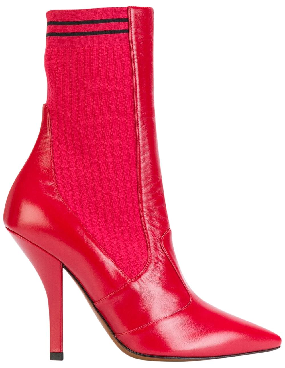 Fendi Pointed-Toe Leather Booties buy cheap browse 2014 unisex for sale pG3U0Wm