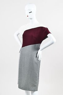 Fendi Maroon Cream Gray Dress
