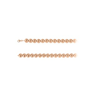 Fine Jewelry Vault 16mm Beads Chain Necklace in 14K Rose Gold Vermeil