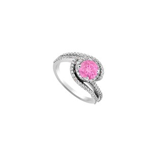 Fine Jewelry Vault Created Pink Sapphire and Cubic Zirconia Engagement Rings