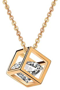 Fine Jewelry Vault CZ Cubic Locket Latest Designs Pendant in Yellow Hue