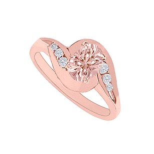 Fine Jewelry Vault Keep The Swirl Morganite and CZs Engagement Ring