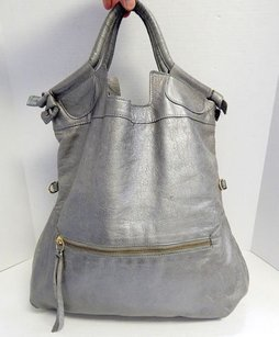 Foley + Corinna Leather Tote in Pewter