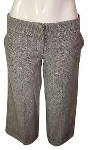 Forever 21 Twenty One Ivory Winter Wool Blend Cuffed Capri Capri/Cropped Pants Brown