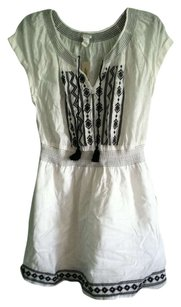Forever 21 short dress white and black embroidery Embroidered on Tradesy