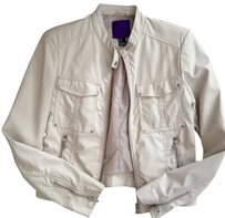 Forever 21 Faux Leather Ivory Jacket