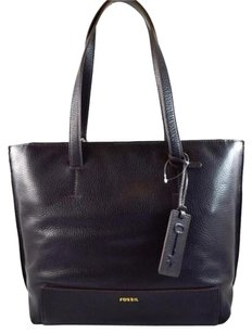 Fossil Leather Madison Tote in Black
