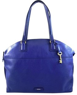 Fossil Leather Julia Sapphire Tote in Blue