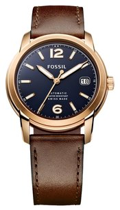 Fossil BRAND NEW Fossil Men's Swiss Automatic Brown Leather St 38mm FSW1003 MSRP $795