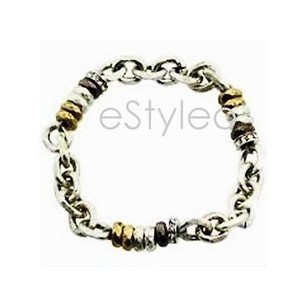 Fossil Fossil Beaded Bracelet Stretch Silver Gold Gunmetal Crystals