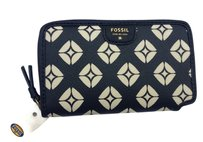 Fossil Fossil Black White Mimi Signature Print Phone Multi Function Wallet SWL1105005