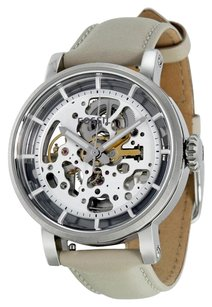 Fossil FOSSIL Boyfriend Automatic Skeleton Dial Beige Leather Ladies Watch FSME3069