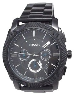 Fossil Fossil Chronograph Black Ion-plated Mens Watch Fs4552 Scratches