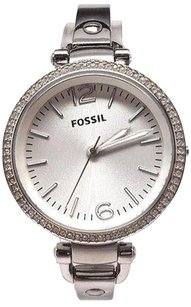 Fossil Fossil Georgia Glitz Stainless Steel Bangle Ladies Watch Es3225 Sold As Is