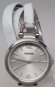 Fossil Fossil Georgia Stainless Steel Leather Ladies Watch Es3246 Heavy Discoloration