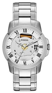 Fossil Fossil Grant Skeleton Dial Stainless Steel Mens Watch