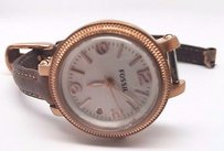 Fossil Fossil Heather Rose Gold-tone Stainless Steel Ladies Watch Es3139 Sold As Is