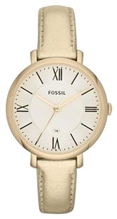 Fossil Fossil Jacqueline Metallic Gold Leather Ladies Watch