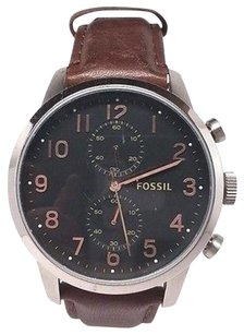 Fossil Fossil Mens Townsman Fs4873 Brown Leather Watch Light Scratches On The Face