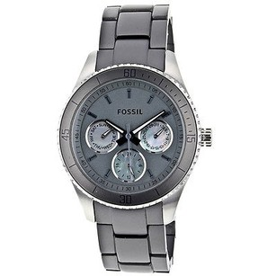Fossil Fossil Womens Es3040 Gray Light Weight Band Watch