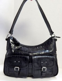 Fossil Alligator Croc Leather Shoulder Bag