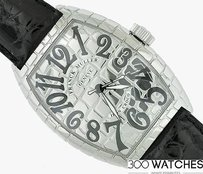 Franck Muller Franck Muller Cintree Curvex Iron Croco 9880 Sc Iron Cro Stainless Steel Watch