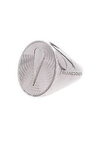 Franco Pianegonda Pianegonda Sterling Silver Oval Heart Smeld Ring Size 7.5