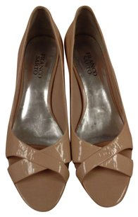 Franco Sarto Open Toe Patent Leather bone Pumps