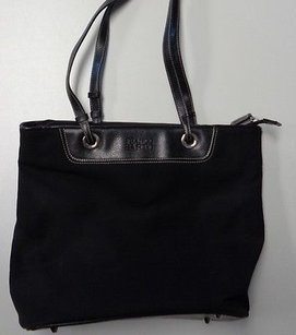 Franco Sarto Canvas W Silver Hardware Detail B3307 Shoulder Bag