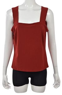 Frank Lyman Womens Sleeveless Casual Shirt Top Red