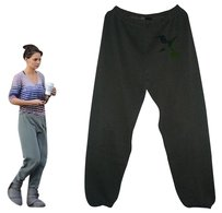 FREECITY Katie Holmes Sofia Richie Boyfriend Pants Heathered Forest Green