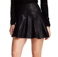 Free People 100% Pu A-line New With Tags Skirt