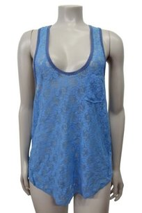 Free People We The Floral Lace Top Blue