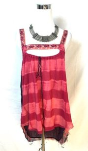 Free People People And Multi Media Tunic Top Pink