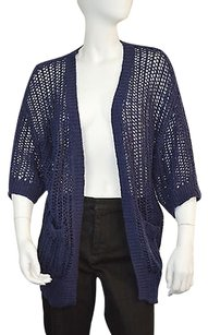 Free People 42 58 People Womens Navy Crochet Knit Cardigan Size Sweater