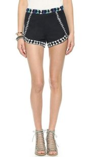 Free People Petal Embellished Shorts Black