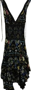 Free People short dress Black Turquoise Pink Green on Tradesy