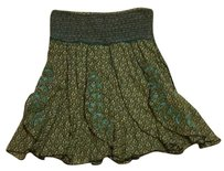 Free People Skirt Green and brown.