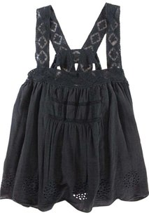 Free People Babydoll Black Top