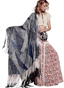 Free People For Lily Shawl Os Lily&lionel Lionel Fringe Soft Silky Lost In Paradise Lost-in-paradise Lose In Paradise Cape