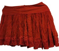 Free People Mini Skirt Dark Red