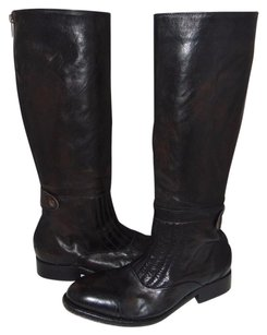 Free People Weathered Riding Moto Black Boots