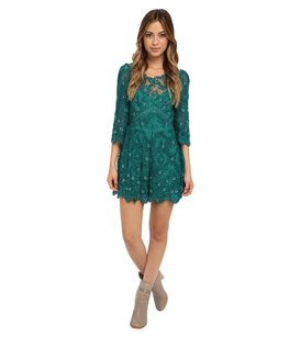 Free People Romper Lace Dress