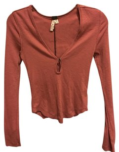 Free People T Shirt Rust