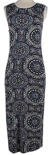 Free People short dress Multi-Color Womens Blue Printed on Tradesy