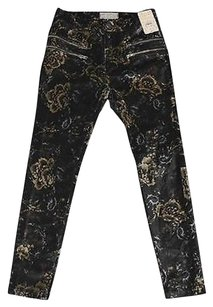 Free People B4 Black Combo Floral Skinny Jeans